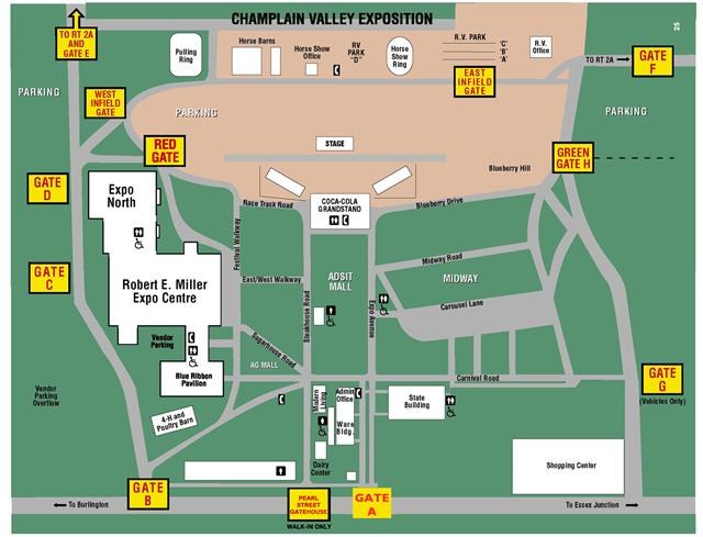 Expo Grounds Map - Champlain Valley Expo on topographical map of vermont, tourist map of vermont, geologic map of vermont, political map of vermont,